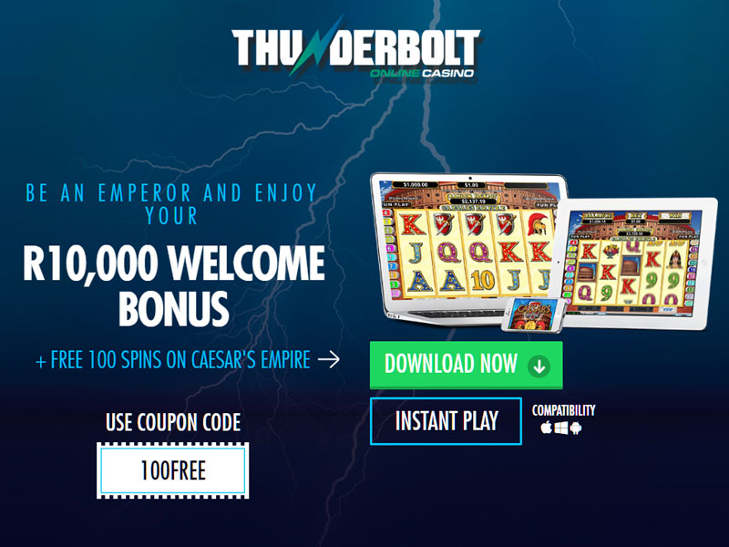 Thunderbolt casino homepage